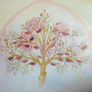 Albero dei sorrisi - olio su tela (84 x 79 cm)
