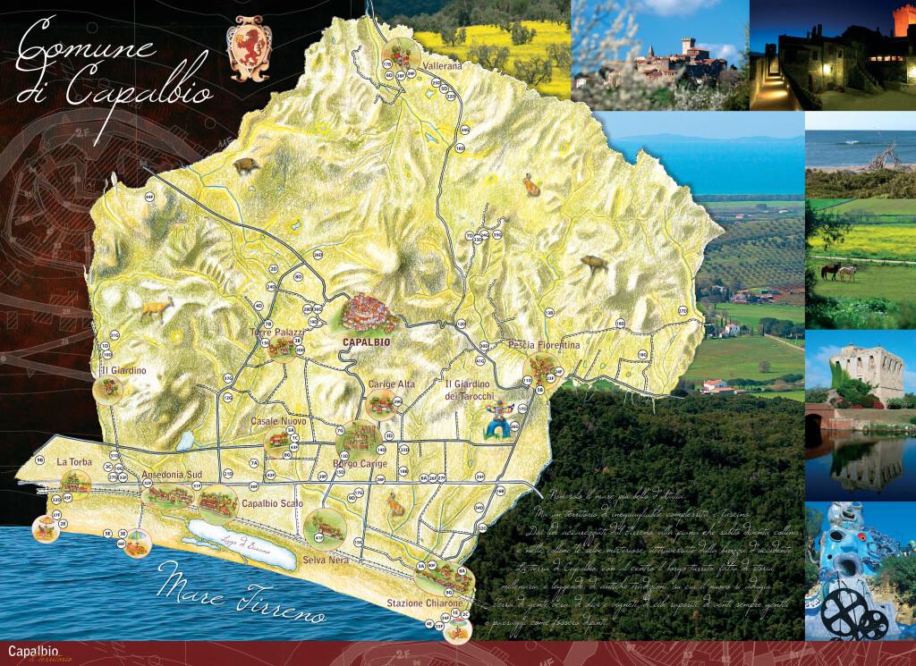 Mappa del Comune di Capalbio